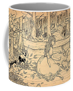 Coffee Mug featuring the drawing Tammy And The Baby Hoargg by Reynold Jay