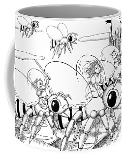 Coffee Mug featuring the drawing Tammy In Polynesia by Reynold Jay