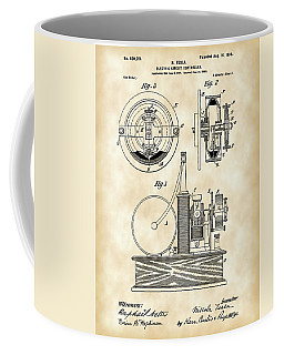 Tesla Electric Circuit Controller Patent 1897 - Vintage Coffee Mug by Stephen Younts