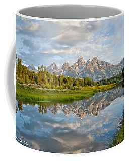 Teton Range Reflected In The Snake River Coffee Mug