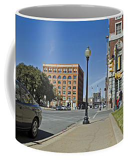 Coffee Mug featuring the photograph Texas School Book Depository by Charles Beeler