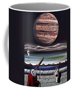 Coffee Mug featuring the painting The Eternal Staring Contest by Ryan Demaree