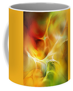 Coffee Mug featuring the digital art The Heart Of The Matter by David Lane