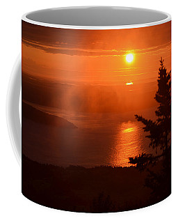 The Sunrise From Cadillac Mountain In Acadia National Park Coffee Mug