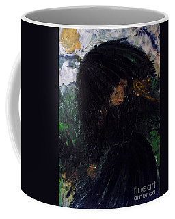 Coffee Mug featuring the painting The Widow by Laurie Lundquist