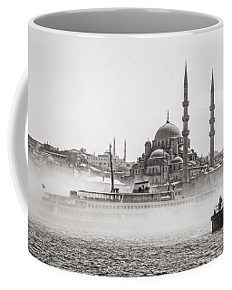 The Yeni Mosque In Fog Coffee Mug