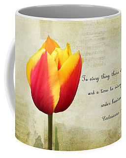 Coffee Mug featuring the photograph There Is A Season by Trina  Ansel