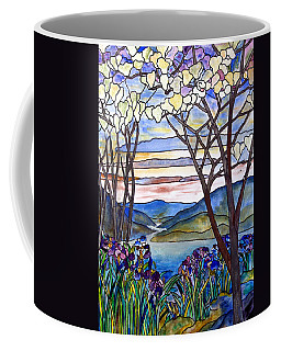 Stained Glass Tiffany Frank Memorial Window Coffee Mug by Donna Walsh