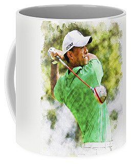 Tiger Woods Hits A Drive  Coffee Mug