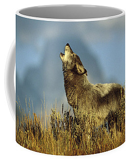 Timber Wolf Howling Idaho Coffee Mug