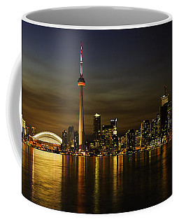Toronto Evening Sky Line Panorama Coffee Mug by Peter v Quenter