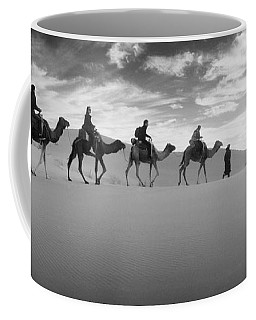 Tourists Riding Camels Coffee Mug