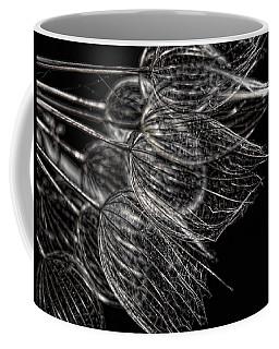 Silver Flowers Coffee Mug