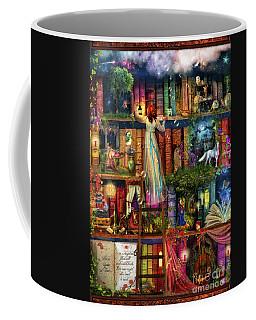 Treasure Hunt Book Shelf Coffee Mug