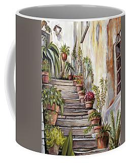 Tuscan Steps Coffee Mug by Melinda Saminski