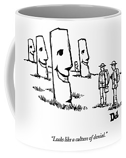 Two Tourists/ Explorers On Easter Island Come Coffee Mug