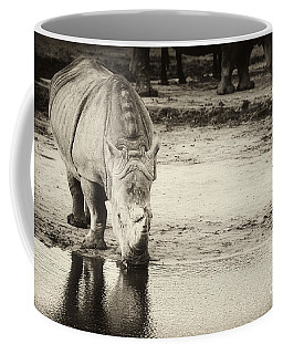 Coffee Mug featuring the photograph Two White Rhinos  by Nick  Biemans