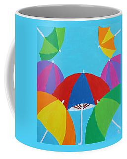 Coffee Mug featuring the painting Umbrellas by Deborah Boyd