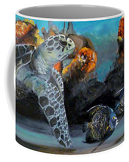 Coffee Mug featuring the painting Underwater Beauty by Donna Tuten