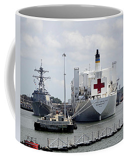 Us Naval Hospital Ship Comfort Coffee Mug by Richard Rosenshein