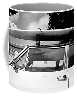 Usa, California, Surf Board On Roof Coffee Mug