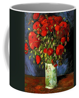 Vase With Red Poppies Coffee Mug