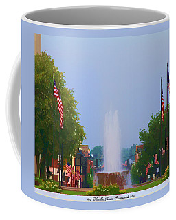 Coffee Mug featuring the photograph Veterans Memorial Fountain Belleville Illinois by John Freidenberg