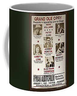 Vintage 1953 Grand Ole Opry Poster Coffee Mug by John Stephens