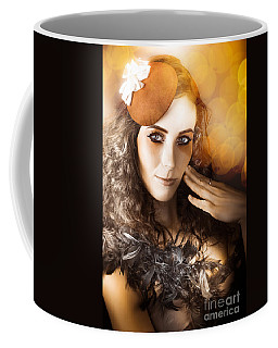 Vintage Style Actress Performing In French Beret Coffee Mug