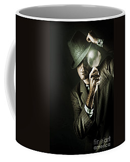 Vintage Undercover Spy On Dark Background Coffee Mug