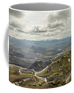 Volcano Valley In Iceland Coffee Mug