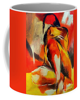 Coffee Mug featuring the painting Waiting by Dragica  Micki Fortuna