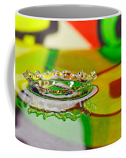 Coffee Mug featuring the photograph Water Crown by Peter Lakomy