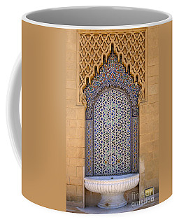 Coffee Mug featuring the photograph Water Fountain Mausoleum Of Mohammed V Opposite Hassan Tower Rabat Morocco  by Ralph A  Ledergerber-Photography