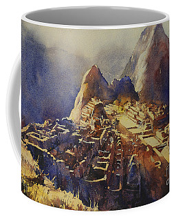 Watercolor Painting Machu Picchu Peru Coffee Mug by Ryan Fox