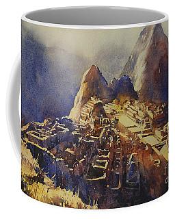 Watercolor Painting Machu Picchu Peru Coffee Mug