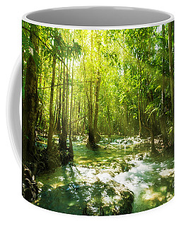 Waterfall In Rainforest Coffee Mug