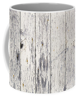 Weathered Paint On Wood Coffee Mug
