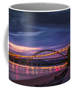 Coffee Mug featuring the photograph Wheeling Suspension Bridge  by Mary Almond