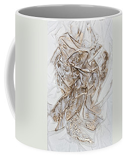 White With Gold Coffee Mug