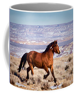 Eagle - Wild Horse Stallion Coffee Mug by Nadja Rider