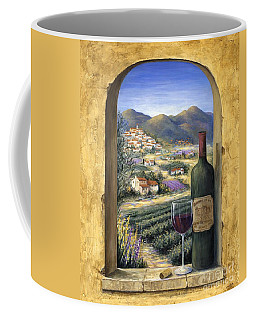 Wine And Lavender Coffee Mug