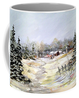 Winter At The Farm Coffee Mug by Dorothy Maier