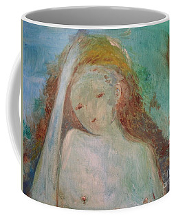Coffee Mug featuring the painting Woman Of Sorrows by Laurie Lundquist
