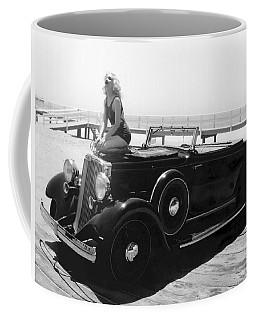 Woman On A Hupmobile Coffee Mug