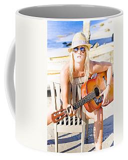 Woman With Guitar Coffee Mug