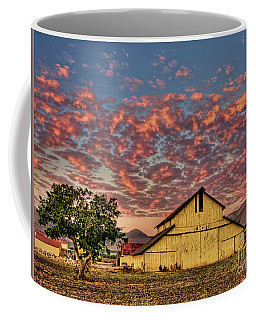 Coffee Mug featuring the photograph Yellow Barn by Beth Sargent