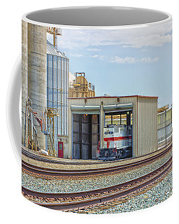 Coffee Mug featuring the photograph Foster Farms Locomotives by Jim Thompson