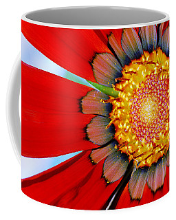 Zinnia In Red Coffee Mug by Wendy Wilton