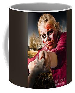 Zombie Pulling Tug Of War Rope. Determined Spirit Coffee Mug
